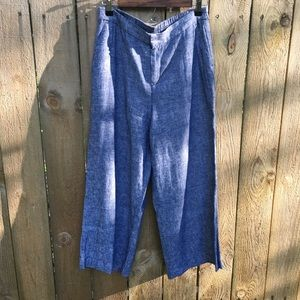 Old Navy Cropped Wide Leg Chambray sz M EUC